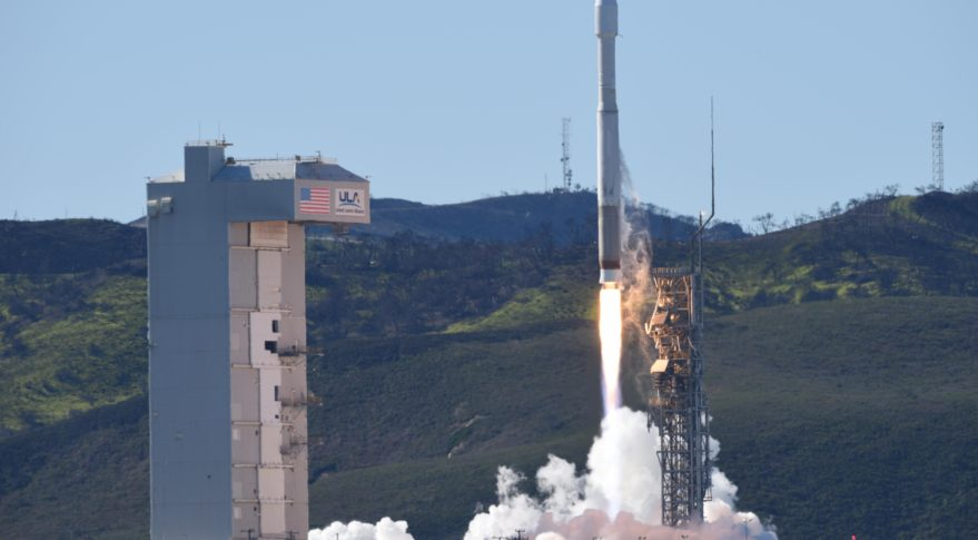 A National Reconnaissance Office payload on a ULA Atlas 5 rocket, launches from Vandenberg Air Force Base, Calif. Credit: USAF