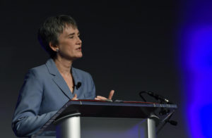 Secretary of the Air Force Heather Wilson speaks to the Air Force Association Air Warfare Symposium, Orlando, Fla., Feb. 22, 2018.  Credit: U.S. Air Force