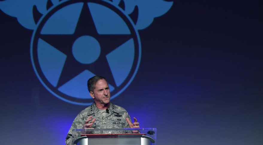 Air Force Chief of Staff Gen. David Goldfein speaks at the Air Force Association Air Warfare Symposium, Orlando, Fla., Feb. 23, 2018. Credit: U.S. Air Force