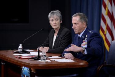 Air Force Secretary Heather Wilson and Air Force Chief of Staff Gen. David Goldfein. (Credit: USAF)