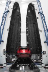 Roadster in Falcon Heavy fairing