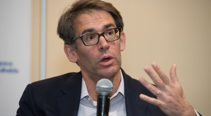 Alex Clavel, SoftBank's managing director, said Intelsat's relationship with OneWeb doesn't preclude other geostationary satellite operators from becoming resellers of OneWeb capacity. Credit: Kate Patterson for SpaceNews