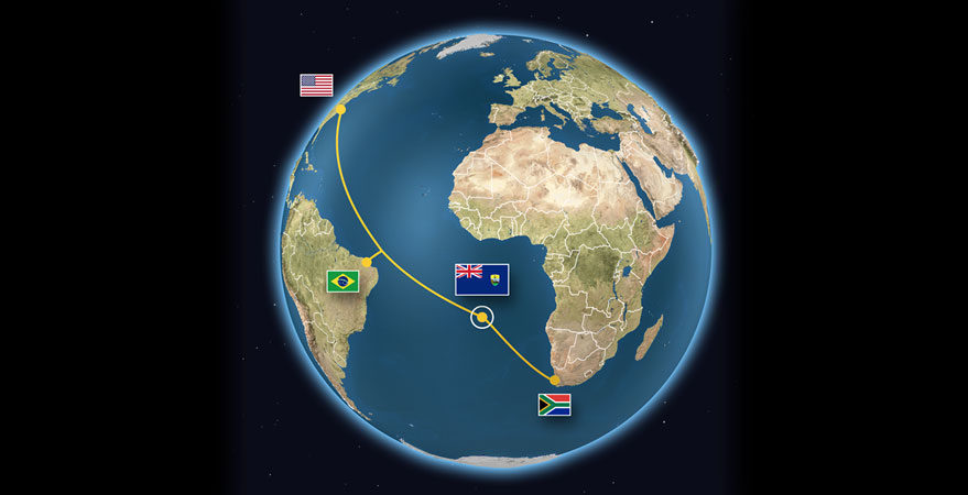 St. Helena succeeded in its campaign to land the South Atlantic Express undersea cable nut now needs to land a satellite Earth station to defray maintenance costs. Credit:earthstation.sh/SpaceNews