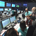POLSA and ESA hosted 15 Polish space companies for a special industry day at the European Space Operations Centre in Darmstadt, Germany. Credit: POLSA
