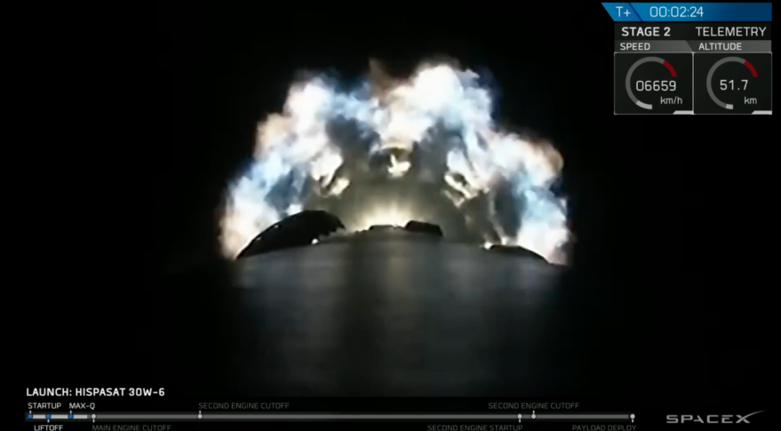 SpaceX Falcon 9 Hispasat