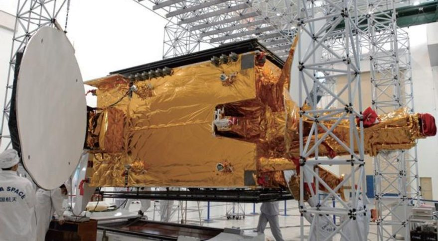 Long March 5's return to flight mission, expected around November, will carry a telecommunications satellite based on the DFH-5 bus, the successor to the DFH-4 show above. Credit: CAST
