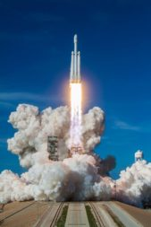 Falcon Heavy launch on Feb. 6, 2018.