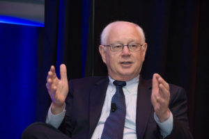 Erwin Hudson, Telesat LEO vice president, said companies are succeeding in developing the key technologies needed for new satellite constellations. Credit: Kate Patterson for SpaceNews