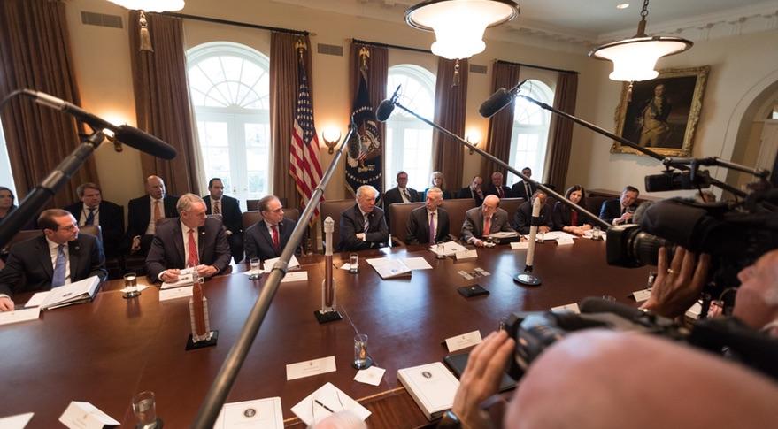 Trump Praises Commercial Space At Cabinet Meeting Spacenews Com