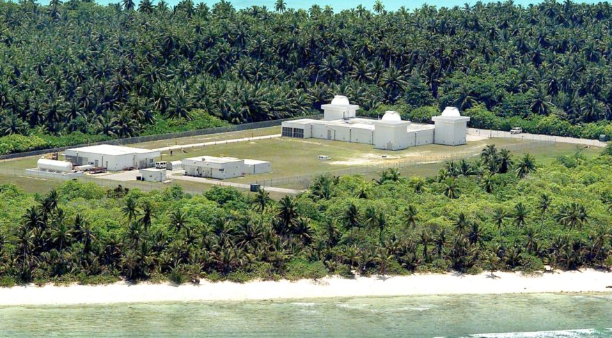 The GEODSS facility at Diego Garcia is one of three operational sites world-wide. The facility tracks known man-made deep space objects in orbit around earth.