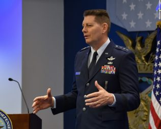 U.S. Air Force Lt. Gen. David D. Thompson became Air Force Space Command vice commander April 5. Credit: DoD