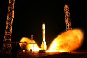 proton launches russian defense comms satellite