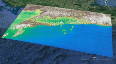This image of Cuba was taken by the HyperScout hyperspectral camera flying onboard the GomX-4B nanosatellite. Credit: Cosine Measurement Systems