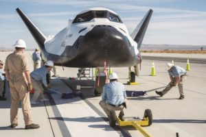 Sierra Nevada Corp.'s Dream Chaser at NASA's Armstrong Flight Research Center, Edwards, California. Credit: NASA