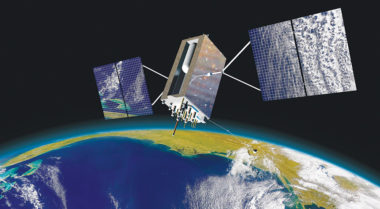 Caption: GPS 3 satellite  Credit: LOCKHEED MARTIN ARTIST'S CONCEPT