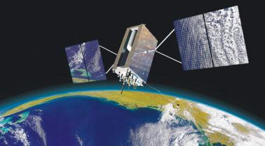 Caption: GPS 3 satellite  Credit: LOCKHEED MARTIN ARTIST'S CONCEPT