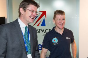 U.K. Business Secretary Greg Clark, left, and Tim Peake, a European Space Agency astronaut. Credit: U.K. Space Agency
