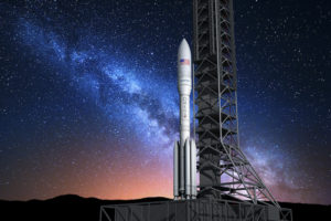 OmegA, the rocket formerly known as Next Generation Launch system, is Orbital ATK's answer to intermediate and heavy-lift launchers in the works at ULA, SpaceX and Blue Origin. Credit: Orbital ATK