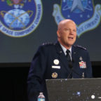"Gen. John W. ""Jay"" Raymond, who leads Air Force Space Command, emphasized close coordination with the National Reconnaissance Office during an April 18 press briefing."