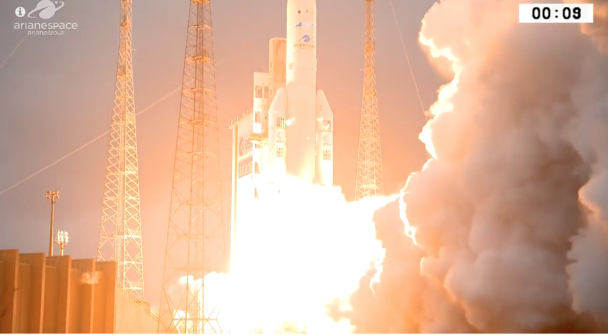 Ariane 5 launches DSN-1/Superbird-8 & HYLAS 4