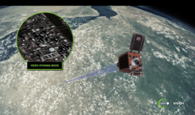 SSTL is building the first five satellites for Earth-i's operational constellation. Those satellites will be delivered to Earth-i in late 2019. Credit: Earth--1 video still via YouTube