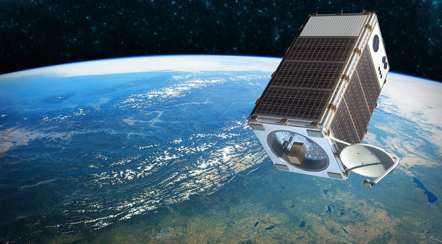 An illustration of MethaneSAT, a small satellite designed to track methane emissions from human activities. The spacecraft's design is still under development. Credit: EDF