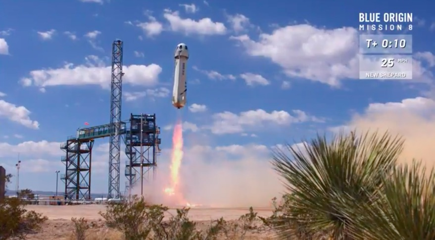 New Shepard Mission 8 launch