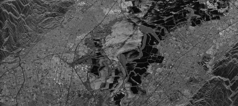 Iceye launched its first commercial microsatellite in January. This is an image of Silicon Valley. Credit: Iceye
