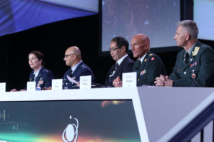 Representatives from the United States, Brazil, Japan, Denmark and Norway discussed plans to share Space Situational  Awareness data at the 34th Space Symposium. Credit: Tom Kimmel