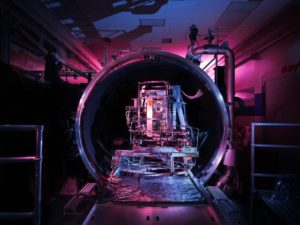 This is an image of Raytheon's Visible Infrared Imaging Radiometer Suite undergoing testing at Raytheon Space and Airborne Systems in El Segundo, California. Credit: Reuben Wu