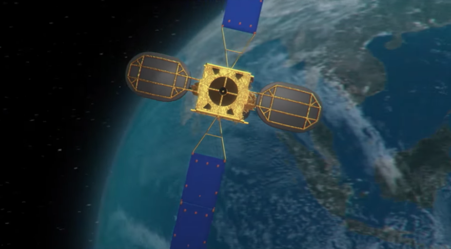 Apstar satellite rendering