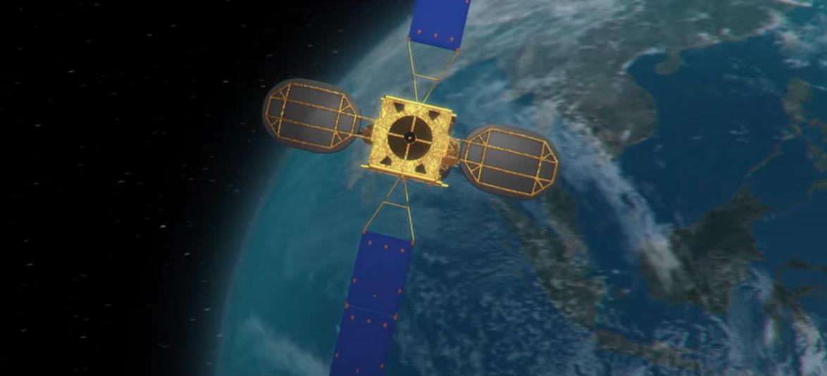 Apstar satellite rendering