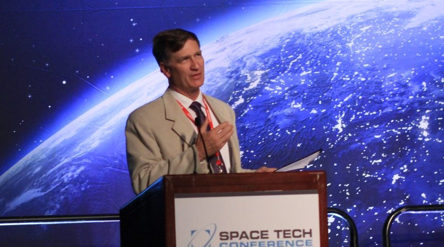 David Barnhart, a former DARPA project manager, is a research professor in the University of Southern California's Department of Astronautical Engineering. He is also director of USC's Space Engineering Research Center, and director of the Space Systems and Technology Division in USC's Information Sciences Institute. Credit: Space Tech Expo