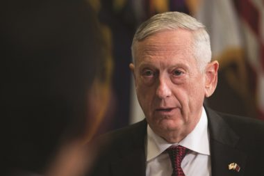 """We're not going to have more papers, we're going to move."" James Mattis, U.S. Secretary of Defense Credit: U.S. Air Force photo by Wayne A. Clark"