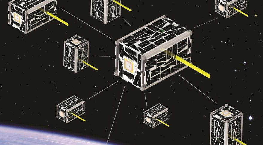 The value of smallsats will be fully realized when the disorganized flock is transformed into a carefully orchestrated constellation. Credit: NASA illustration