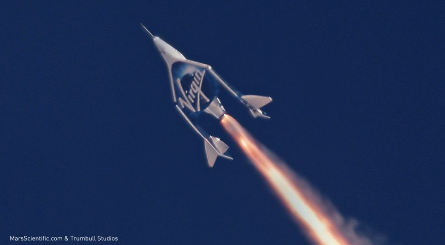 Boundary of space being reconsidered as Virgin Galactic test