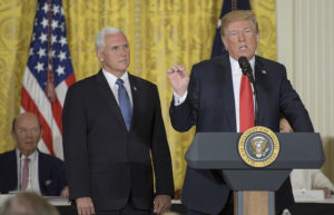 "President Trump directs the Pentagon to create a Space Force as a ""separate but equal"" branch of the military."