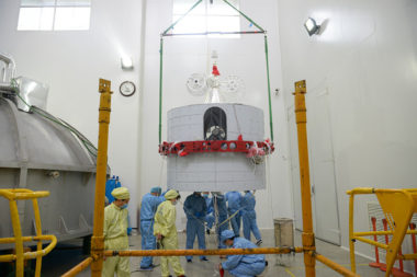 Fengyun-2H weather satellite undergoing testing. Credit: CASC