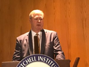 Director of the Air Force Rapid Capabilities Office Randy Walden speaks at a Mitchell Institute event June 25, 2018