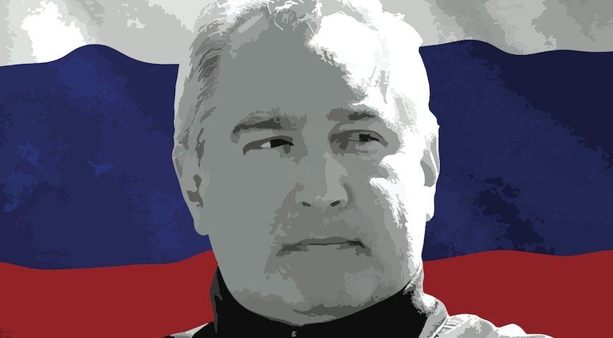 Dmitry Rogozin, head of Roscosmos. Credit:  SpaceNews photo illustration/KREMLIN.RU