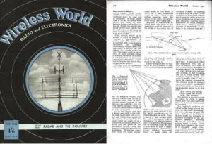 Sir Arthur C. Clarke's 1945 prediction of the geostationary satellite was dismissed by some Wireless World readers. Twenty years later, on April 6, 1965, the launch of Intelsat 1 proved the famed science-fiction novelist got it largely right. Credit: Wireless World via Lakdiva.org