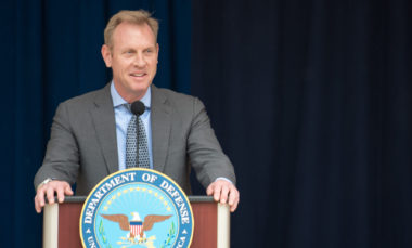 Deputy Secretary of Defense Patrick M. Shanahan and Director of Administration and Management, Michael L. Rhodes present the Spirit of Service award to 34 civilians being recognized for their contribution to the Department of Defense during a ceremony at the Pentagon, Washington, D.C., May 10, 2018. The awards ceremony is part of the annual Public Service Recognition Week. (DoD photo by U.S. Army Sgt. Amber I. Smith)