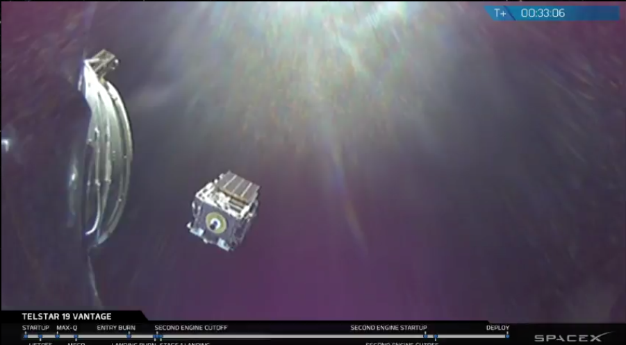 Telstar-19 Vantage SpaceX