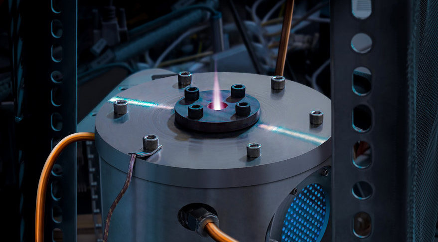 This is an image of Momentus' Ardor thruster for Ardoride, a multi-kilowatts propulsion system the firm is developing to power 500 to 1,000-kilogram spacecrafts. Momentus is testing the technology in its laboratory and plans to fly it for the first time in 2020. Credit: Momentus