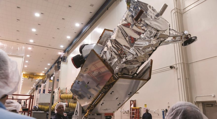 Canada-based MDA had to resubmit paperwork to CFIUS during its acquisition of DigitalGlobe of Colorado last year for reasons that weren't entirely clear. CFIUS approved the merger, enabling the creation of the combined company Maxar Technologies, following a 30-day extension of its review process. DigitalGlobe's WorldView 4 satellite, which launched in 2016, is shown above being prepared for shipping. Credit: Lockheed Martin