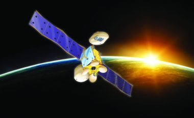 Israel's Ministry of Science and Technology announced Sept. 3 that Amos-8 — a replacement for Spacecom's Amos-6 satellite destroyed during SpaceX Falcon 9's 2016 fueling mishap — will be built in Israel with government support. The announcement was accompanied by this rendering featuring the logo of Israel's only satellite builder, the state-owned Israel Aerospace Industries (IAI). Credit: Israel's Ministry of Science and Technology