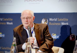 Erwin Hudson, Vice President of Telesat LEO, said the operator's business plans center on a constellation with 292 satellites. Credit: Brian Berger/SpaceNews