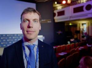 The French space agency CNES is raising money for CosmiCapital, a venture fund for space companies, François Alter, business development officer in CNES' Directorate for Innovation, Applications and Science, said Sept. 12 at the World Satellite Business Week conference in Paris. Credit: SpaceNews/Brian Berger