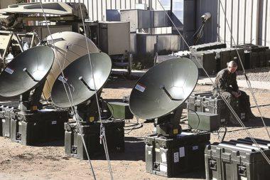 U.S. Marine Corps' VSAT terminals undergo evaluations at Camp Pendleton, California, in 2017. Credit: U.S. Defense Department