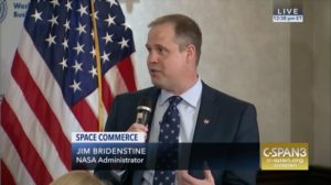 bridenstine says relationship with roscosmos head rogozin is positive